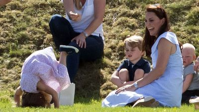 Kate Middleton plays with her kids at the polo, June 2018