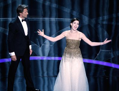 Hugh Jackman pulled Anne Hathway on stage during the 2009 Oscars