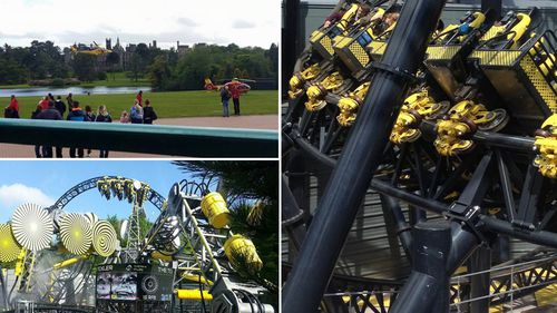 Four people seriously injured in UK rollercoaster crash