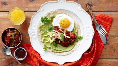"Recipe:&nbsp;<a href=""http://kitchen.nine.com.au/2016/05/16/11/56/mexican-eggs"" target=""_top"">Mexican eggs</a>"