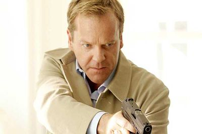 """<div align=""""left""""><B>The dad:</B> Jack Bauer (Kiefer Sutherland), <i>24</i><br/><br/><B>Father to:</B> Kim (Elisha Cuthbert).<br/><br/><B>Why he's a rad dad:</B> Being the daughter of government agent and all-around superspy Jack Bauer is a double-edged sword. On one hand, Jack had to be the coolest dad on the planet, but on the other, it makes his daughter a prime target of all the nasties of the world. Jack often proved he would do just about anything for Kim, even though there were many times in the series when she wanted nothing to do with him."""