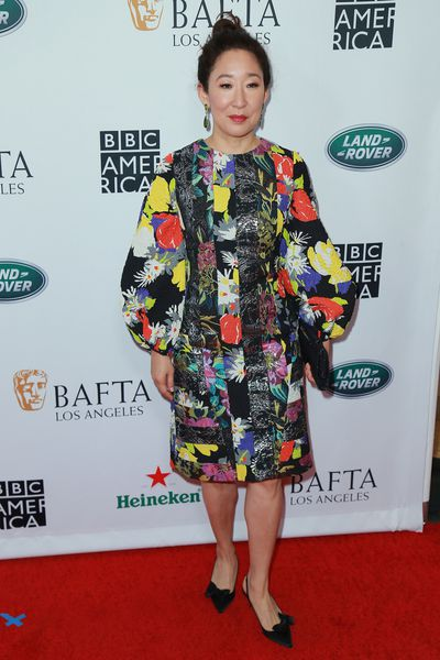 Sandra Oh attends the BAFTA Los Angeles + BBC America TV Tea Party 2018 event in Beverly Hills. Oh has been nominated for the 'Lead Actress in a Drama Series' award for her role in <em>Killing Eve.</em>