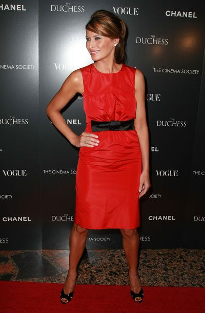 Melania Trump attends <em>The Duchess</em> Premiere for Chanel at The Public Theater on September 10, 2008 in New York City.
