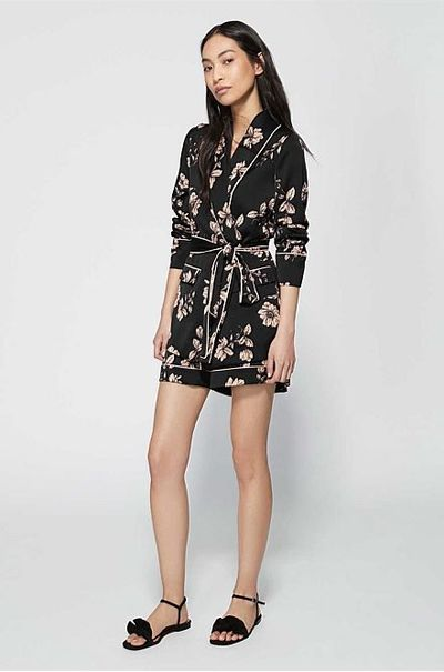 "<p><a href=""https://www.witchery.com.au/products/60216506/Piped-Print-Jacket.html"" target=""_blank"" draggable=""false"">Witchery Piped Print Jacket in Black, $199.95</a></p> <p><a href=""https://www.witchery.com.au/shop/woman/clothing/shorts/60216519/Piped-Print-Short.html"" target=""_blank"" draggable=""false"">Witchery Piped Print Short in Black, $99.95</a></p> <p> </p> <p> </p>"