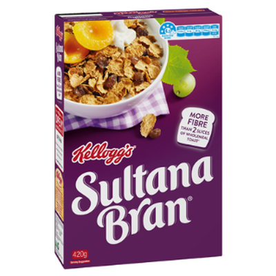 <strong>Sultana Bran (15.5 grams of fibre per 100 grams)</strong>