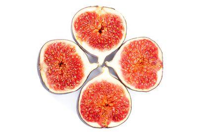 Whole figs: 16.3g sugar per 100g