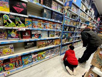 Toys for children in a shopping centre in Madrid on December 30, 2019 in Madrid, Spain.