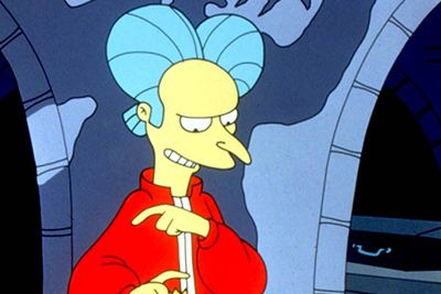 <B>The vampire:</B> In this Halloween episode, the Simpsons are invited to Mr Burns' castle for a holiday feast. Vampire-Burns bites Bart, and Lisa discovers they must kill the head vampire, Mr Burns, to save her brother. The gang heads back to the castle and stakes Burns, but it turns out Marge was the head vampire all along... who then wishes the audience a happy Halloween. Anti-climactic, sure. Weird, definitely. But a classic episode nevertheless.<br/><br/><B>Scare factor:</B> The thought of Mr Burns' fruity drag queen hairstyle alone is enough to cause Sideshow Bob-style shuddering for weeks.
