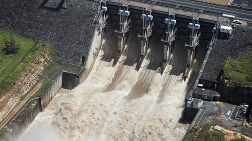 Queensland's Wivenhoe dam falls below 50 per cent for first time in a decade