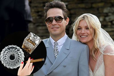 Kate Moss registered for 14 crystal ashtrays when she married rocker Jamie Hince in 2011.