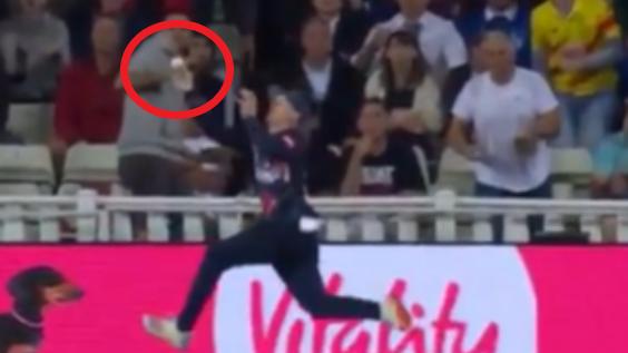 Insane cricket catch makes 20-year-old Jordan Cox instant superstar