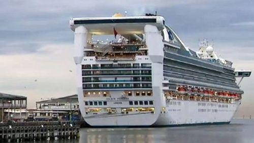 A cruise ship has docked in Melbourne despite a 30-day ban in Australia.