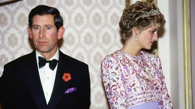 Prince Charles and Princess Diana in 1992.