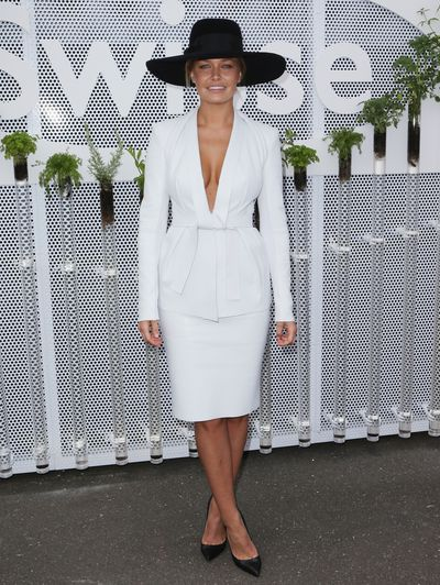 Model Lara Bingle attends, 2012