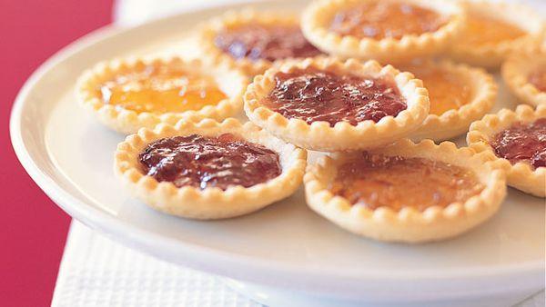 Jam and marzipan tartlets