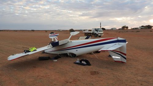 The plane flipped as it landed at William Creek airport.