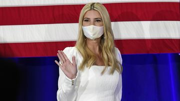 Ivanka Trump touted her father's economic polices during the visit.