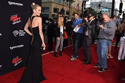 Jaime looking a bit more composed on the red carpet.
