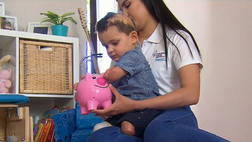 Desiree Scofield has been fighting for free vaccinations since her son lost his arms and legs to the infection. (9NEWS)