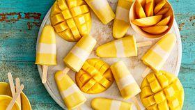 Mango frozen yogurt pops