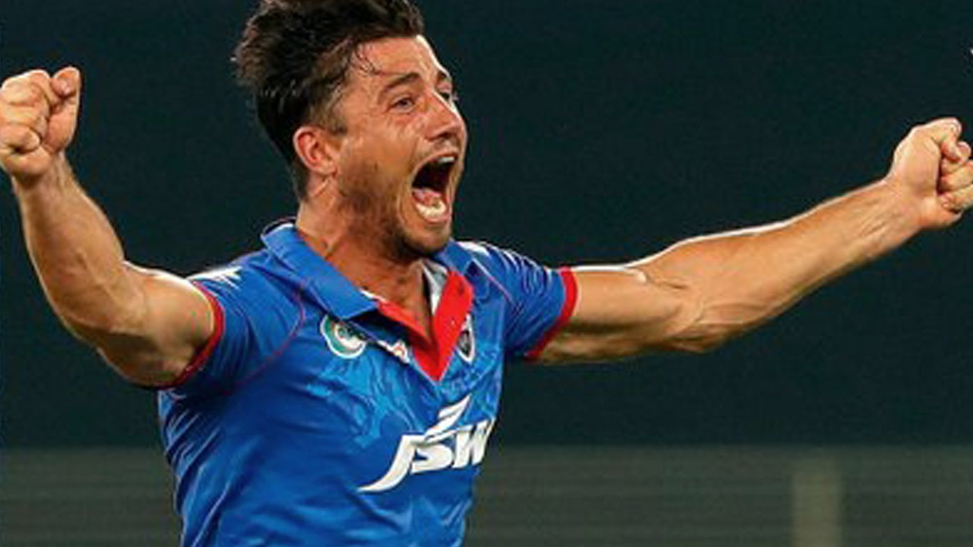 Marcus Stoinis celebrates a wicket