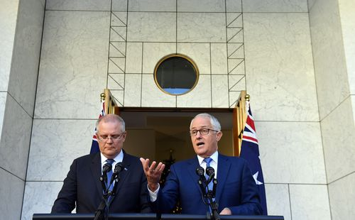 Malcolm Turnbull ended up announcing a Royal Commission into the financial sector on November 30 last year, backflipping on his earlier rejection of the investigation. (AAP)