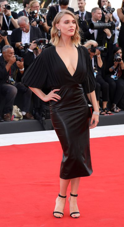 Gaia Weiss at the 2018 Venice Film Festival