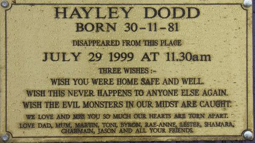 The body of Hayley Dodd has never been found. (AAP)