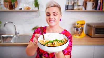 Jane de Graaff cooks butter chicken for Quarantine Kitchen