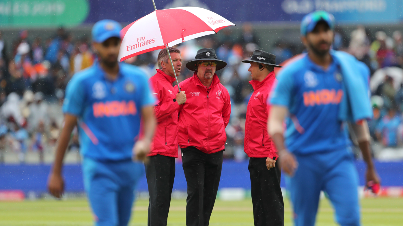 India v New Zealand World Cup semi final suspended due to rain