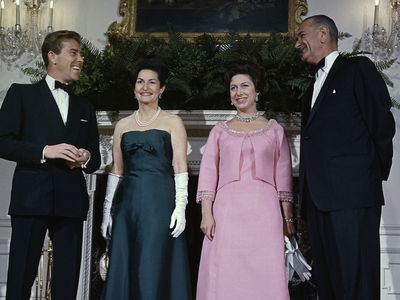 Princess Margaret with Lyndon Johnson, 1965