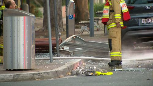 Firefighters arrived on the scene to see a man run into the middle of the road, on fire.