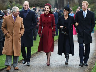 The royal family leaves church, Christmas 2018