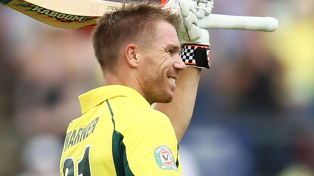 Warner continues golden streak with bat