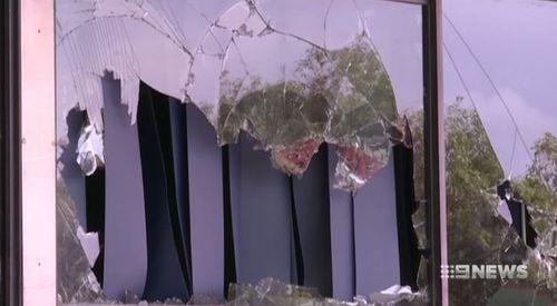 The fire destroyed classrooms and damaged school equipment. Picture: 9NEWS