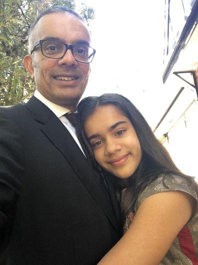 Raj and Yasmin hug