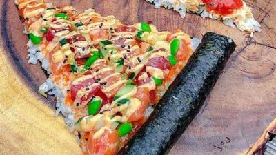 Sushi pizza is the ultimate food hybrid