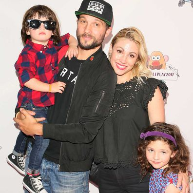 Logan Marshall-Green and Diane Gaeta with their two children.