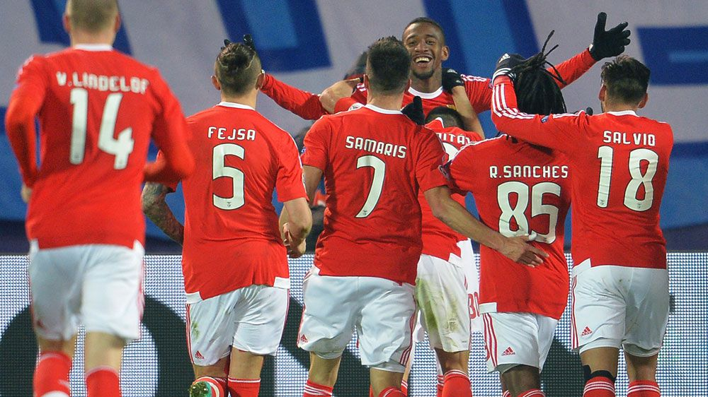 Late goals send Benfica into ECL quarters