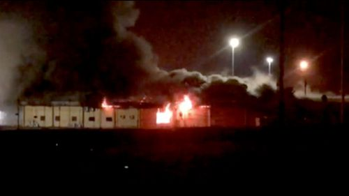 A building at the Don Dale Youth Detention Centre in Darwin caught alight shortly before 10pm.