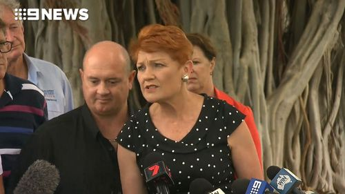 Senator Hanson refused to answer any questions until she had more information (Image: 9News)