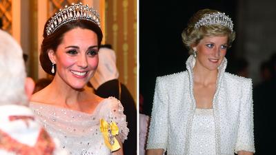 The Duchess of Cambridge showcases Diana's stunning tiara.