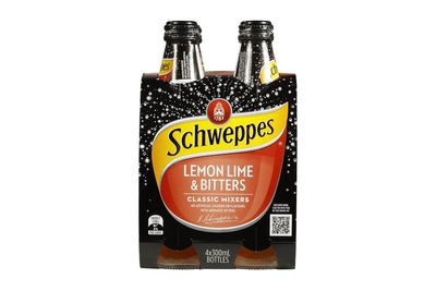 Schweppes Lemon Lime and Bitters: 10.1g sugar per 100ml