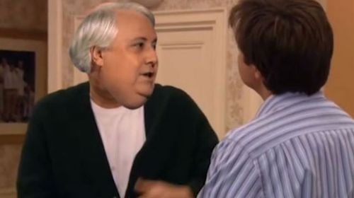 Clive Palmer lets rip in an edited scene from Arrested Development. (Supplied)