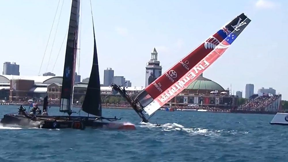 America's Cup: New Zealand again suffer that sinking feeling
