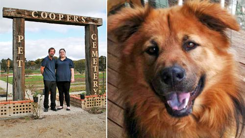 South Australian man opens pet cemetery in memory of beloved dog