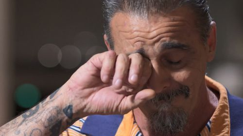Mr Orne broke down as he told 60 Minutes of how he revealed the alleged abuse to his mother just five years ago - decades after his time at Daruk. Picture: 60 Minutes