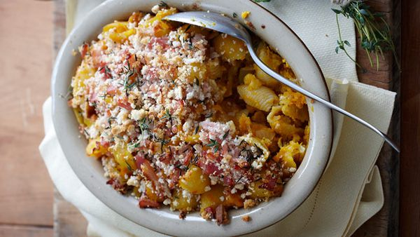 Pumpkin and bacon bake for $6.80