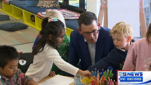 Premier Daniel Andrews promised dozens more schools across the state.
