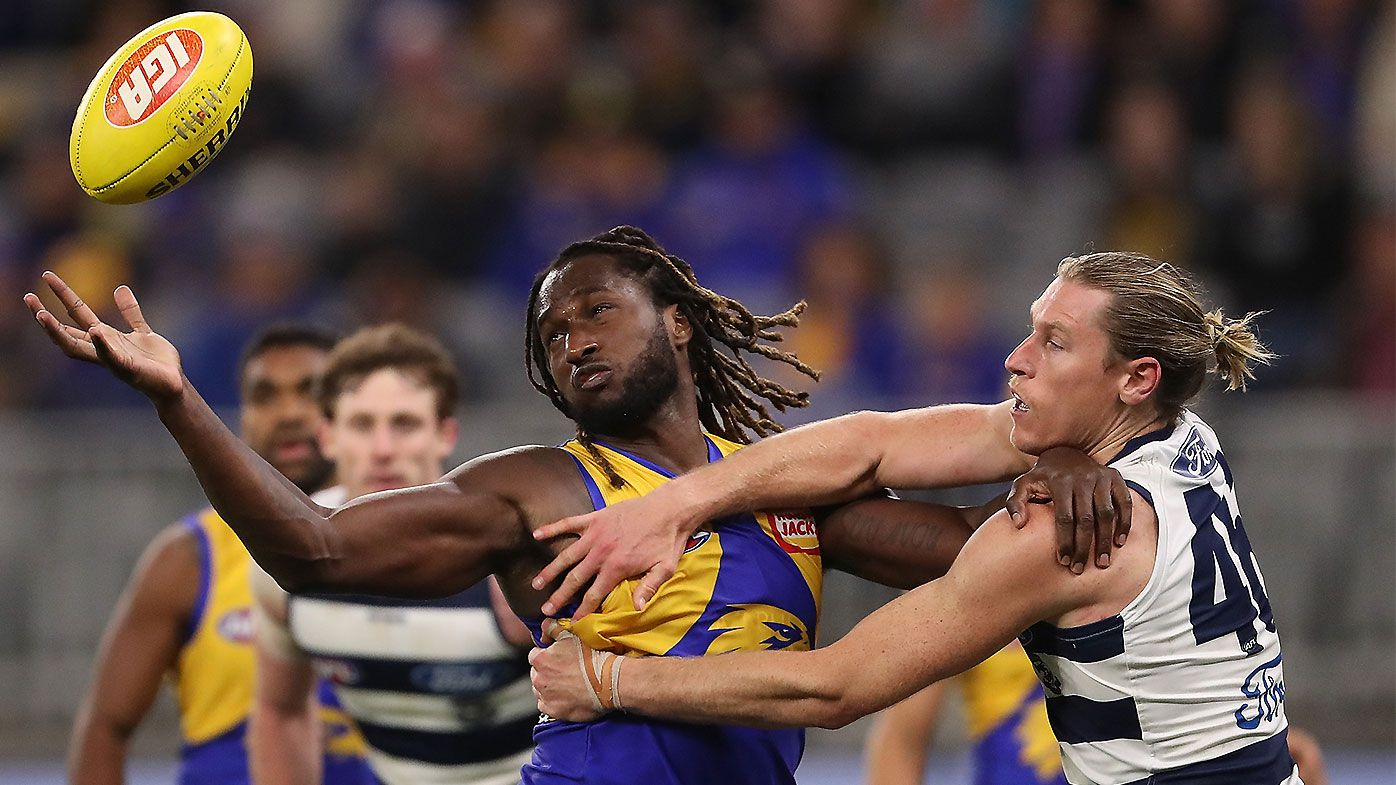 Geelong burned by Nic Naitanui masterclass as West Coast complete stunning comeback
